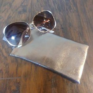 NWT 3/$15 Bronze Shimmer Eye Glass Case